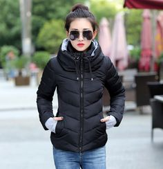 hooded plus size 2016 Korean long sleeve warm light down padded winter jacket women parkas for women winter coat women B143 #>=#>=#>=#>=#> Click on the pin to check out discount price, color, size, shipping, etc. Save and like it!