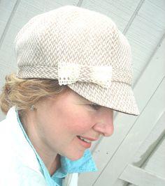 Curvy Sister Newsboy Creamy Wool/Blend by BoundtobeCreative, $34.00