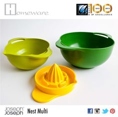 Nest Multi from Set of 4 bowls, The and Multi and BD Joseph Joseph, Bowls, Nest, Juice, Colour, Tableware, Serving Bowls, Nest Box, Color