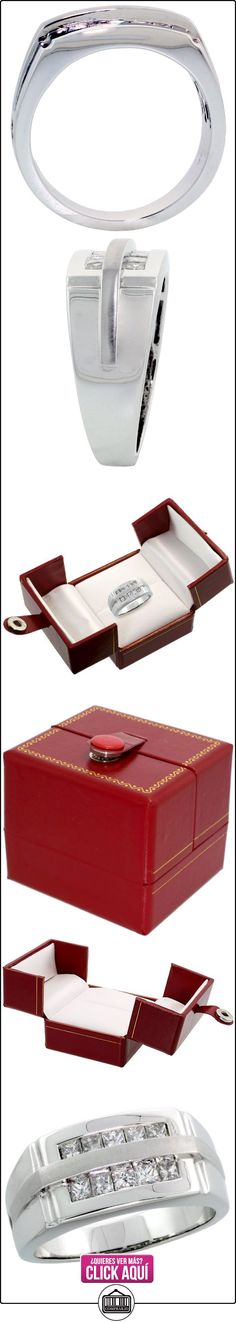 Revoni - Anillo de oro blanco con diamante  ✿ Joyas para hombres especiales - lujo ✿ ▬► Ver oferta: http://comprar.io/goto/B0036BGMOS
