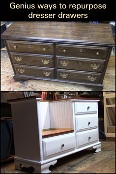 Before you throw out your old dresser, turn it into something useful...