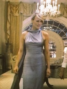 On Season 3 of House of Cards, Claire Underwood wore this dress to the Russian State Dinner, fabulous! Hollywood styles should take note, this is what sexy looks like!