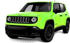 2017 Jeep Renegade Lime Green Jeep, Jeep Wrangler Renegade, Panel Truck, Jeep Compass, Pickup Trucks, 4x4, Harley Davidson, Vans, Jeep Jeep