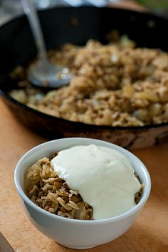 Rice and Lentils with softened onion from the Stone Soup, plus tips for going vegetarian.