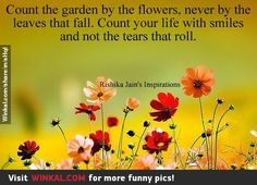 count your garden by the flowers not by the leaves that fall - Google Search