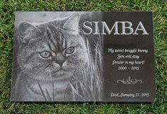 Laser Engraved Pet Memorial ~ Black Granite