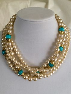 A personal favorite from my Etsy shop https://www.etsy.com/listing/230447652/vintage-necklace-baroque-glass-pearl-and