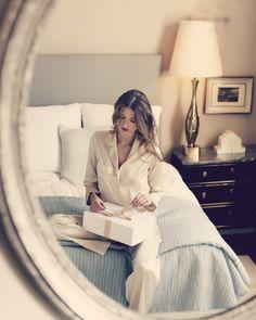Greta Pyjama Set in Silk - Champagne