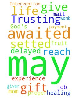 Trusting in God's Awaited Intervention! -  Please pray for my Mom to experience Gods Healing, and for a proper job. May God the Giver of Life give me the gift of the fruit of the womb May an awaited mail reach me with delayed payment to be setted A S A P. Amen  Posted at: https://prayerrequest.com/t/zsG #pray #prayer #request #prayerrequest