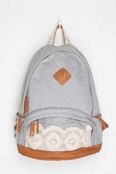 Kimchi Blue Lace & Jersey Backpack from Urban Outfitters. Shop more products from Urban Outfitters on Wanelo. Lace Backpack, Backpack Bags, Fashion Backpack, Puppy Backpack, Hiking Backpack, Stylish Backpacks, Cute Backpacks, School Backpacks, Mochila Jeans