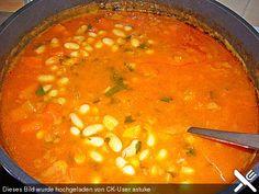 Griechische Bohnensuppe