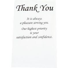 """61-1648 / 4X6-1/2X3 Pack Of 250 / Black Thank You Envelopes""""Series - 61-1648Size - 4X6-1/2X3 Pack Of 250Series Description -..."""""""