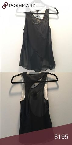 Rag & Bone Top NWT Super cute rag&bone top! Never worn! Cute asymmetrical back with sheer sections! rag & bone Tops