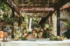 rustic wedding sign | Wedding Chicks Feature | John Robert Woods Photography | Rancho Las Lomas | 24 carrots Catering