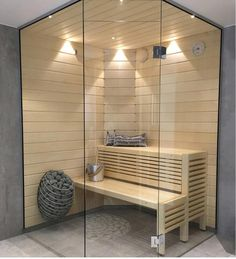 bilder sommar badrum med bastu arbete bäst I like the heater in this one Home Spa Room, Spa Rooms, Saunas, Home Interior, Interior Design Living Room, Sauna Kits, Sauna Design, Steam Sauna, Couple Room