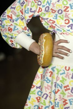 Get inspired! Jeremy Scott Dress, Donut Bracelet. Shit, I hope I don't eat it