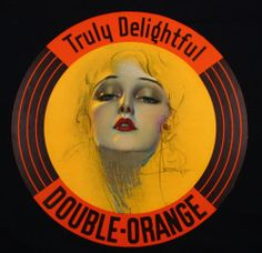 1930s TRULY DELIGHTFUL DOUBLE-ORANGE ADVERTISING ROLF ARMSTRONG PIN-UP SIGN NR
