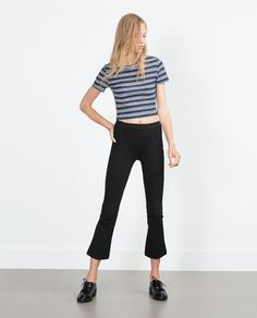 Image 1 of FLARED CROPPED LEGGINGS from Zara