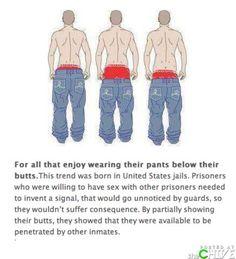 Sagging pants origin homosexual marriage