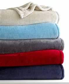 Berkshire Blankets, Shimmersoft Blankets - Blankets & Throws - Bed & Bath - Macy's