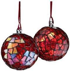 Mosaic Ball Christmas Tree Ornament
