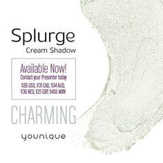 Meet Charming It's the newest member of the Splurge Cream Shadow family in a gorgeous sea foam color. Get your hands on it today! #www.tammysterrificlashes.com