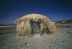 Traditional hut on the shore of Lake Turkana