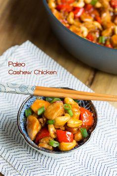Paleo Cashew Chicken Recipe #paleo