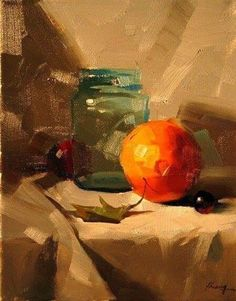 New Fruit Still Life Painting Orange Ideas Oil Painting Lessons, Still Life Oil Painting, Apple Painting, Fruit Painting, Still Life Drawing, Realistic Paintings, Classical Art, Pottery Painting, Learn To Paint