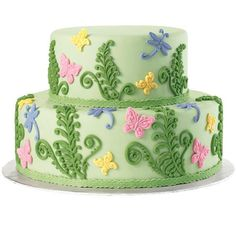 12 PC Edible Fondant Fern with Butterfly Cake Topper. $19.95, via Etsy.
