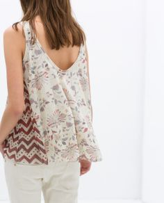 ZARA - NEW THIS WEEK - COMBINED PRINTED TOP