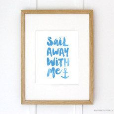 SAIL AWAY WITH ME  ...MADE BY FLUTTER FLUTTER STUDIO