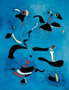 Joan Miró, Birds and Insects, 1938, Oil on canvas. Albertina, Vienna - Batliner Collection © VBK, Wien 2009. Photo: © Fotostudio Heinz Preut...