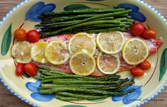Gourmet Girl Cooks: Oven Roasted Copper River Wild Salmon & Oven Roasted Asparagus