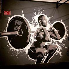 Mural/Wall art painted by me, Sophia Tapper. At CrossFit Exe.