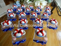 Nautical Party Favors Decorations Cold Porcelain/ Festa Marinheiro Biscuit https://www.facebook.com/BelaVitaCreationsbyIzabela