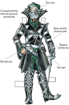 ) - Paper Doll - From Dover Publications Creative Haven Steampunk Dolls, Victorian Steampunk, Steampunk Fashion, Steampunk Costume, Paper Doll Costume, Paper Art, Paper Crafts, Origami, Sample Paper