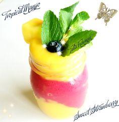 Tropical Mango & Sweet Strawberry Smoothie!