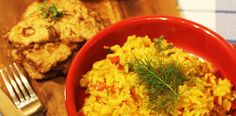 Ghiveci de legume cu orez. Si garnitura de porc pe langa
