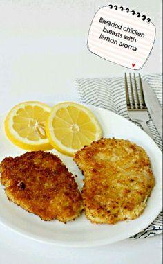 Milanesa de pollo al limón
