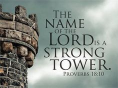 Proverbs 18:10 The name of the Lord is a strong fortress;     the godly run to him and are safe.