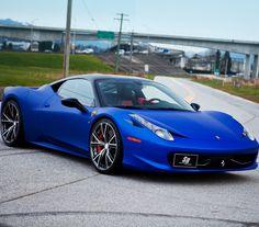 Matte blue Ferrari 458 Italia #CarFlash