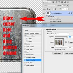Repositioning Pattern Overlays in Photoshop Styles