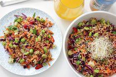 Rezept // Frühlingssalat mit Quinoa und Bulgur