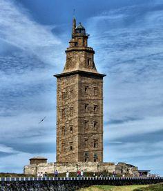 .Torre de Hércules Galicia. España.