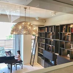 Laying different kinds of songs underneath our Crystal Waters Hood lighting sculpture. Wish we could be there to hear her play. Interior by Lighting design by William Brand Custom Lighting, Modern Lighting, Lighting Design, Lighting Sculpture, Contemporary Chandelier, Modern Light Fixtures, Lighting Solutions, Interior Styling, Interiors