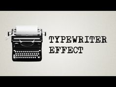Adobe After effects tutorial: Typewriter effect WITHOUT expressions! Possible under 1 minute! - YouTube