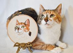 Crazy cat lady level 20 - I embroidered my cats! - Imgur