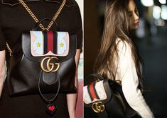 2018 Gucci In-Style Purse Street Look - GG Marmont Collection