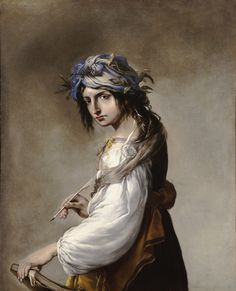 Lucrezia as Poetry (c.1641). Salvator Rosa (Italian, 1615-1673). Oil on canvas. Wadsworth Atheneum. Allegorical figure paintings were popular in 17th-century Italy, but this work by Rosa is in a class of its own. It portrays his mistress, Lucrezia, as the Muse of Poetry. The traditional symbols of poetry, such as the pen, book, and laurel leaves, help to identify the subject, but it is the half defiant, half withdrawn attitude of Lucrezia that gives the portrait its particular, enigmatic…